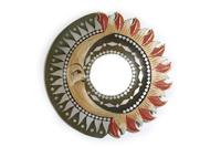 Солнышко с зеркалом 4 вида зеленые лучики (си-237)