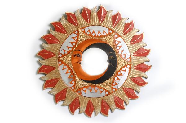 Солнышко с зеркалом 4 вида лучики (си-240)