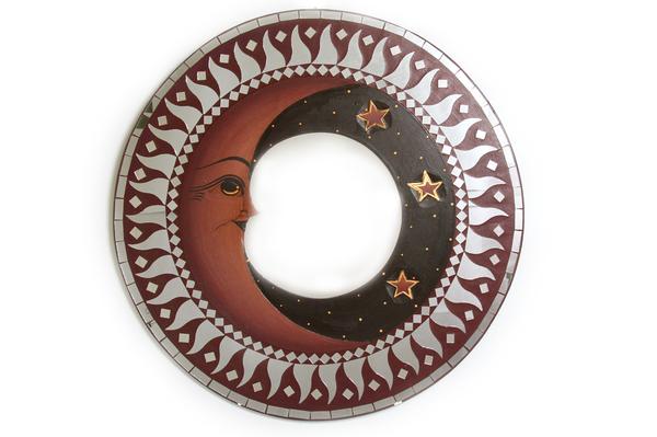 Зеркало с месяцем и звездами, (Индонезия) d-50 см, 6 видов  (си-210)