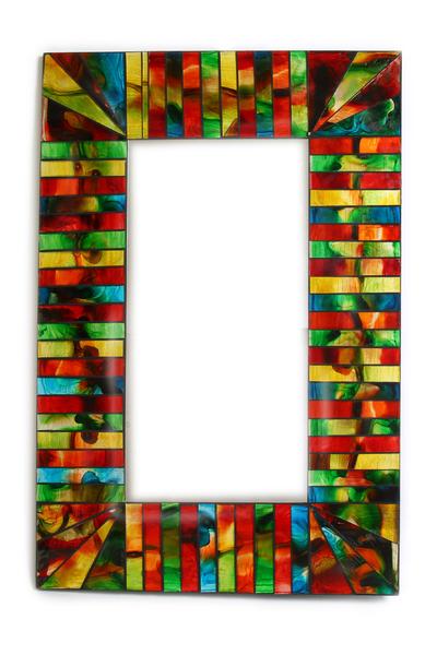 Зеркало прямоугольное со стеклянной мозаикой, (Индонезия), (си 206)