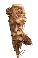 Маска бамбук лицо человека (мб-12)