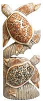 две черепахи балса раскрашенные с камешками( чб-21)