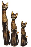 Кот набор коричневый на шее рисунок из цветного стекла( к-998, к-999, к-1000)