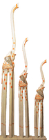 набор слонов с стеклом на боках (с-244,с-245,с-246)