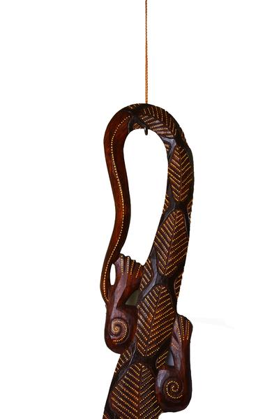Ящерица деревянная, 100 см, 10 видов, Индонезия,  (я-27)