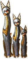 Кот с рукой на шее цвет серебро с золотом ( к-920,к-921,к-922)