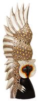 Сова распахнув крылья оперлась на сук (с-267)