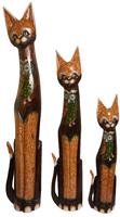 Кот коричневый с совой из стекла ( 947,к-948,к-949)